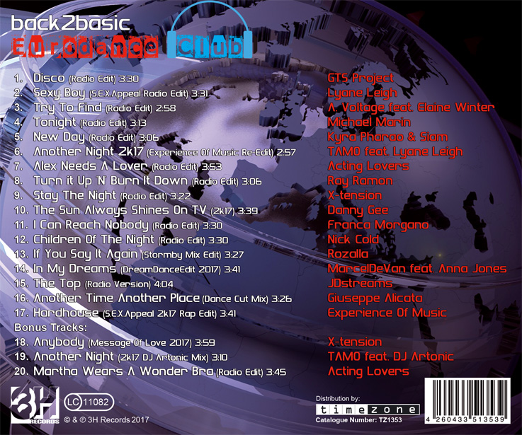 Eurodance Club Vol. 1 - Tracklisting